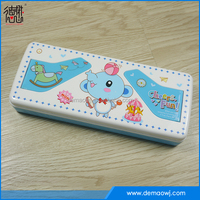 Latest style cartoon printing hard case two layer school fancy pencil box