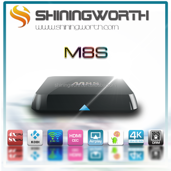 M8S 2G/8G tv box Bluetooth Amlogic S812 4K Android tv box