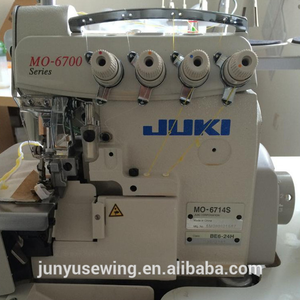 JUKI MO 6714S 4 threads high speed industrial used overlock sewing machine