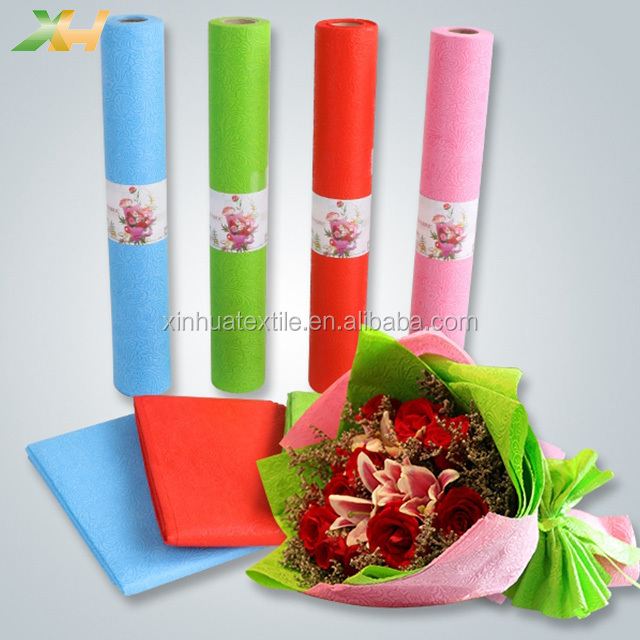 Wholesale low price flower embossing 100% polypropylene pp spunbonded non woven fabric tnt non woven material