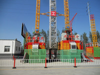 2000kg, 2 cages SC200 / SC200/200 Construction Elevator from China