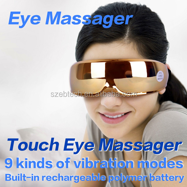 shenzhen factory produce 2014 new electronic rechargeable portable eye massager