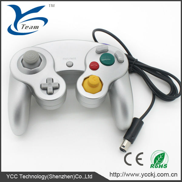 For gamecube wired game controller analog controller with vibration feedback for nintendo game cube controller/joystick