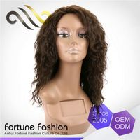 Samples Are Available Soft And Luster 22 Inch Curly Natural Half Wig Human Hair