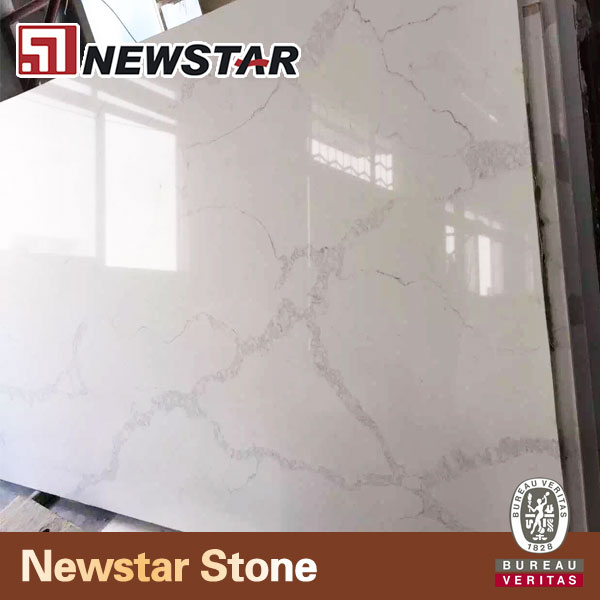 Newstar statuary white quartz slabs