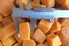 organic iqf pumpkin cube for sale