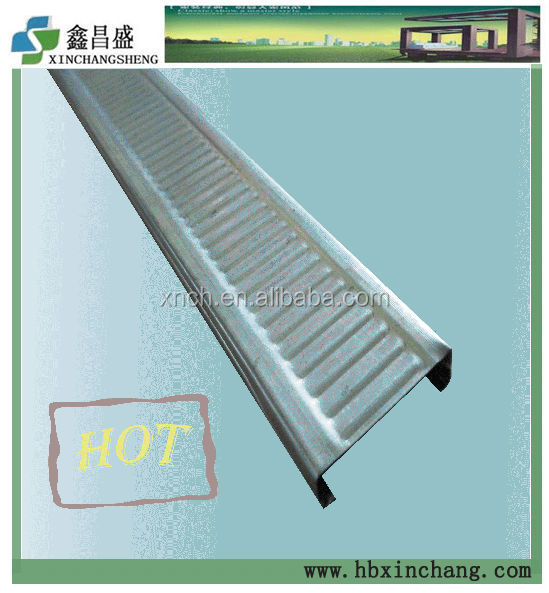Building material Silver parts galvanized profile main and furring channel
