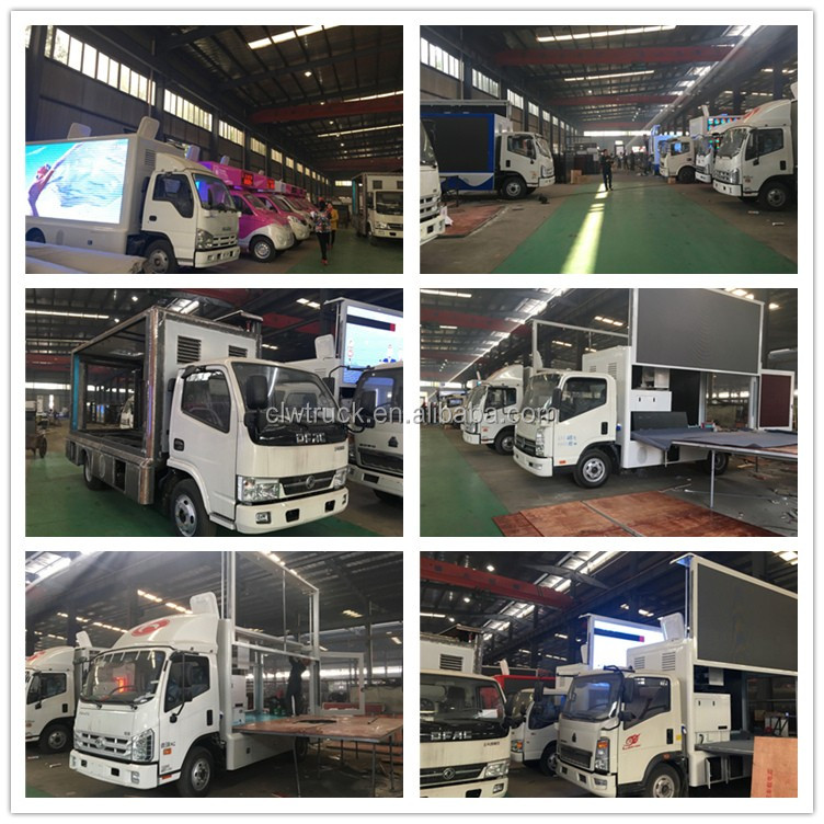 Cheap price P8/P6/P5 LED advertising truck mobile display advertisement vehicles for sale