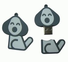 2015 hot sell kid gifts PVC cartoon dog usb flash drive
