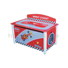 HT-SCTB01 70x40x37/49(H)cm E1 Standard Race Car Design Toy Box, New Arrival Kids Wooden Toy Box With Assembly Instructions