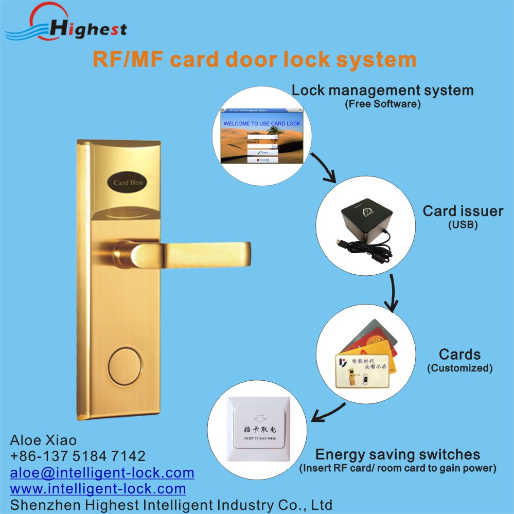 RX118E-J-S1 electronic ic temic card hotel door lock