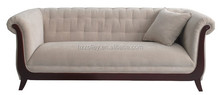Classical Design US Style Vintage Three Seats Wooden Sex Sofa