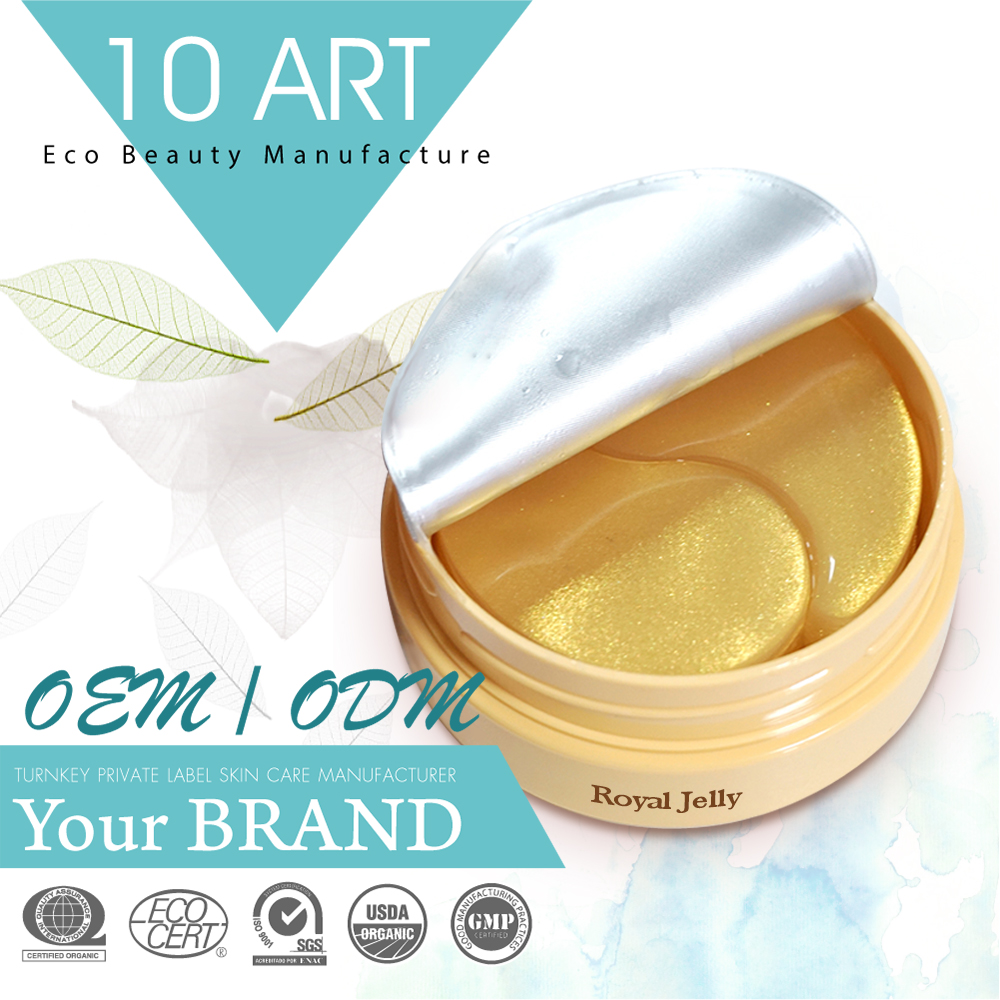 Private Label Royal jelly 24K Gold Anti Aging Collagen Sleeping Eye Mask