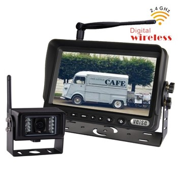 WIreless security system with rearview camera monitor for food truck trailer