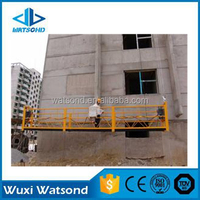 cargo lift construction electric suspended platform