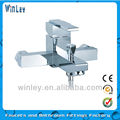 brass single lever bath mixer chrome plated