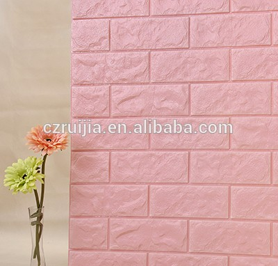 Kids Protective 3D Design Wall Tiles Decorative XPE Foam Wall Brick