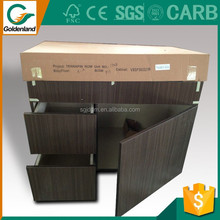 Shandong high quality wood kitchen cabinet vinyl wrap