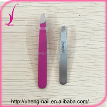 Customized printed pattern eyebrow tweezers with scissors style handle
