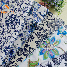 Ttraditional Chinese printed 100% poplin cotton fabric construction