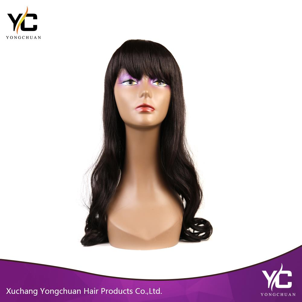 tops curly wig for women 2016, china supplier long curly wig with bangs