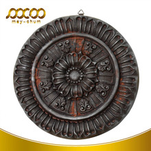 Polyurethane /PU Antique round shape wall hanging wall art for home decor