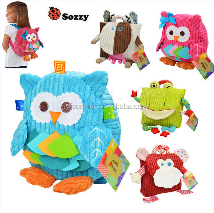 Sozzy 25cm Cute Plush School Backpacks Animal Figure Bag Kids' schoolbag