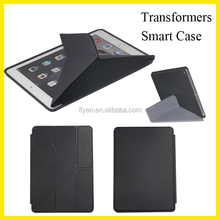 For ipad Smart Cover Transformers Multi-angle Stand Case Leather for ipad air mini Smart Cover Case Ultra thin with Auto Sleep