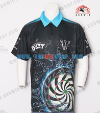 oem manufactory custom high quality China sublimated zipper polo custom wholesale dart shirt