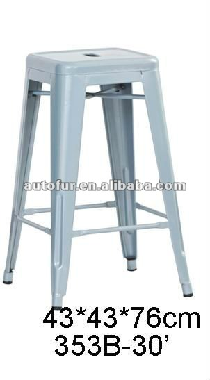 Hot sale stackable antique metal bar stools tabouret 30 inch high