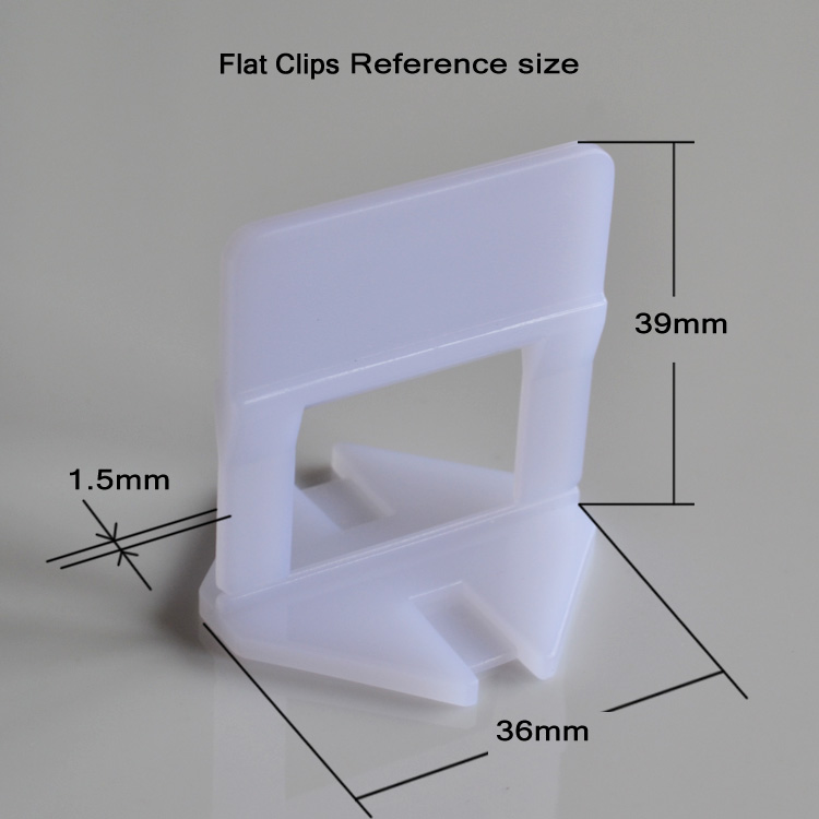 New Arrival 1.5mm Tile leveling system FG-2(Flat Clips) for thickness of 3mm to 12mm tile