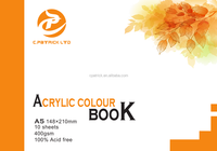 OEM A5 400GSM Acid free high quliaty Acrylic paper drawing book Free sample