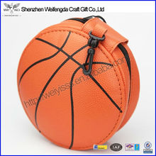 2015 New basketball Design leather round zipper fancy cd dvd case