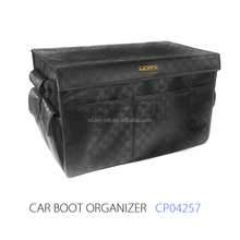 2017 Hot Selling Waterproof and High Quality Black Muti pockets Car Trunk Organizer and Car Organizer and Auto Trunk Organizer