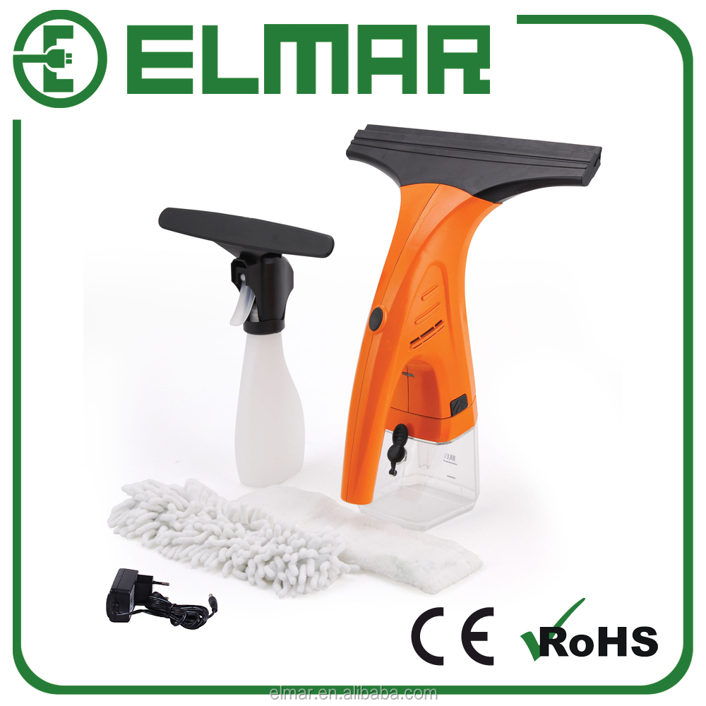 Window Vacuum Cleaner Electric Squeegee Telescoping handle and Spray Bottle