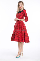 Walson Evening Formal Dresses polka dot rockabilly dress Fabric Type rockabilly retro pin-up vintage 50s dress