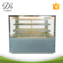 Supermarket project commercial display cake refrigerator showcase