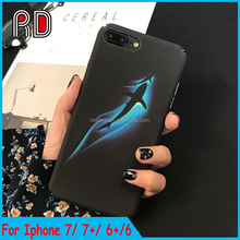 Glow in the dark Blue Whale phone case for iphone 7 7plus 6s 6