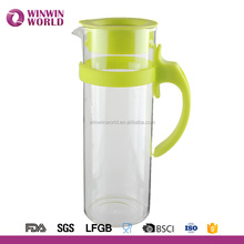 Premium Clearly Glass Water Carafe 1200ML Iced Coffee Pitcher