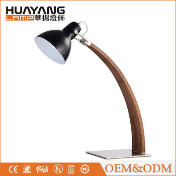 HUAYANG 2017 hot sale American style study modern wood table lamp