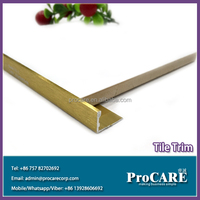diversified easy installation aluminium L shaped tile trim extrusion profile for flooring tile trim