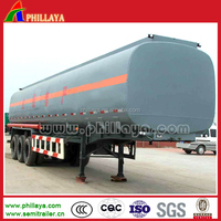 5000 litres tri-axle fuel/oil/milk/cotton oil tanker trailer