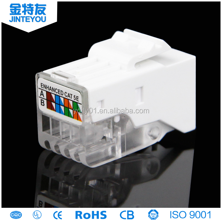 AMP rj45 cat6/cat5e/ network connector telcom connector keystone jack