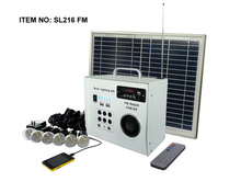 Portable Solar power kit 5w for outdoor lighting camping,small solar power system with rechargeable battery,USB mobile charger
