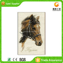 Manufacture supply brown horse with room decor animal art 5d diy diamond painting