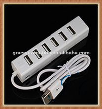 Portable 6 ports type c usb 3.1 charge hub made in China factory