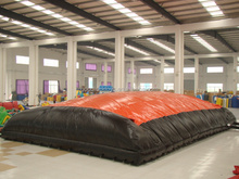custom inflatable air mat for sport game for skiing,inflatable jumping rescue cushion for sale