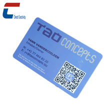 Customized Contactless RFID Eco-friendly Hard Plastic NFC Business Name Cards