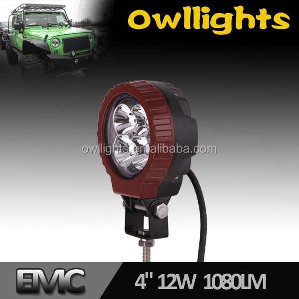 Owllights 12w LED Driving Light Motorcycle LED Headlight Aluminum Housing IP67 Waterproof LED Spot Working Light