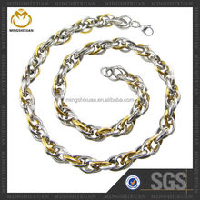 2015 Most Popular Wholesale jewelry newest design stainless steel chain necklace